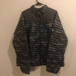 Eddie Bauer stormdown 800 goose filled jacket camo